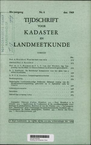 Tijdschrift voor Kadaster en Landmeetkunde (KenL) 1969-12-01
