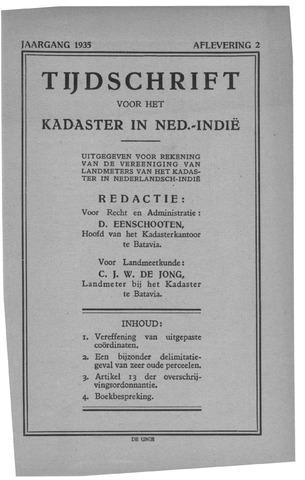 Tijdschrift voor het Kadaster in Ned.-Indië 1935-04-01