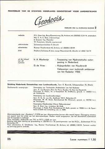 (NGT) Geodesia 1961-02-01