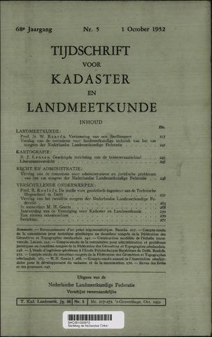 Tijdschrift voor Kadaster en Landmeetkunde (KenL) 1952-10-01