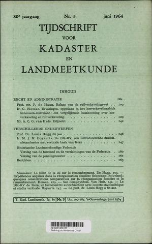 Tijdschrift voor Kadaster en Landmeetkunde (KenL) 1964-06-01