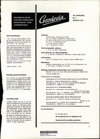 (NGT) Geodesia 1974-01-01