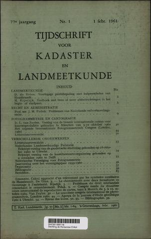 Tijdschrift voor Kadaster en Landmeetkunde (KenL) 1961-02-01