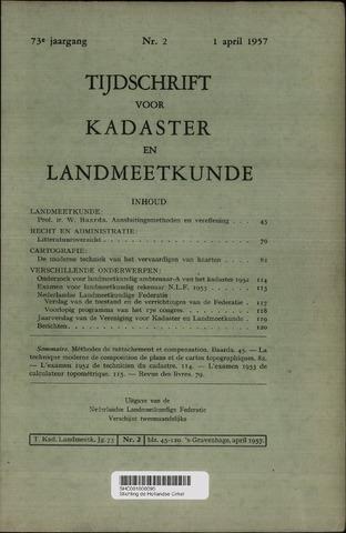 Tijdschrift voor Kadaster en Landmeetkunde (KenL) 1957-04-01
