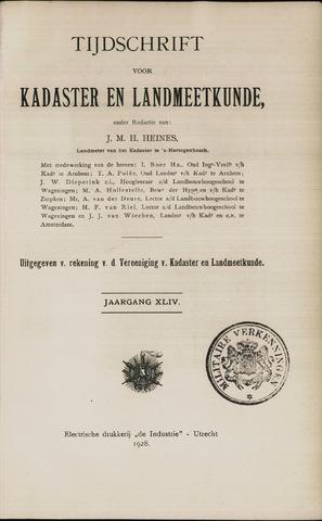 Tijdschrift voor Kadaster en Landmeetkunde (KenL) 1928