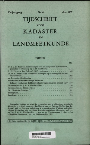 Tijdschrift voor Kadaster en Landmeetkunde (KenL) 1967-12-01