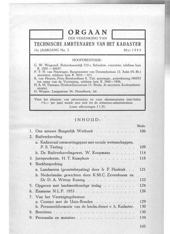 Orgaan der Vereeniging TAK 1953-05-01