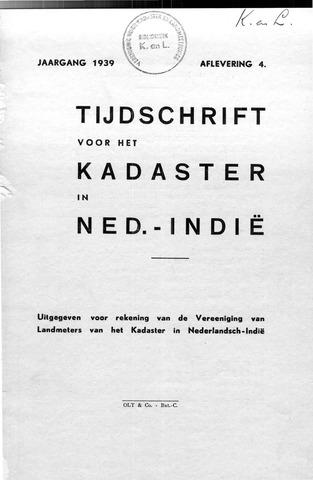 Tijdschrift voor het Kadaster in Ned.-Indië 1939-10-01