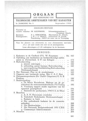 Orgaan der Vereeniging TAK 1950-09-01