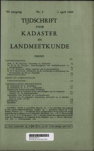 Tijdschrift voor Kadaster en Landmeetkunde (KenL) 1960-04-01