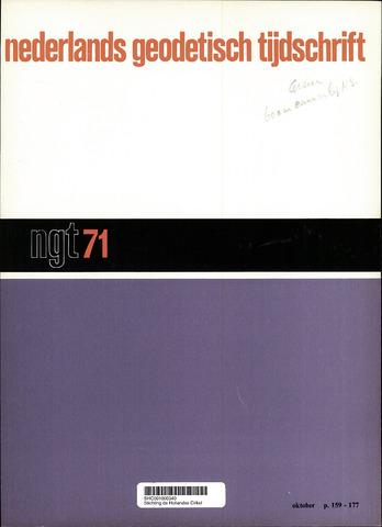 Nederlands Geodetisch Tijdschrift (NGT) 1971-10-01