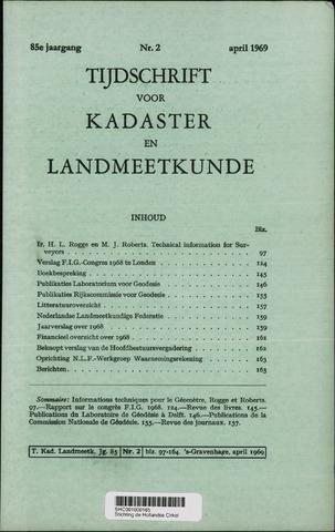 Tijdschrift voor Kadaster en Landmeetkunde (KenL) 1969-04-01