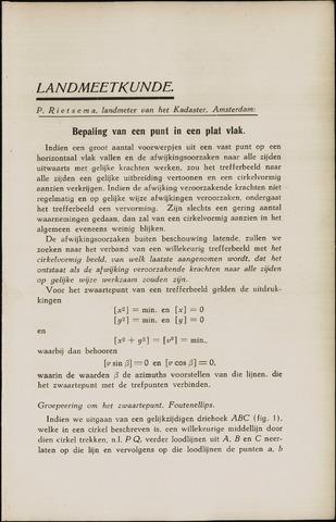 Tijdschrift voor Kadaster en Landmeetkunde (KenL) 1939