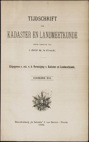 Tijdschrift voor Kadaster en Landmeetkunde (KenL) 1900