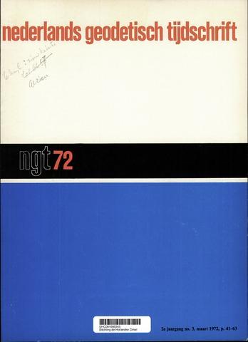 Nederlands Geodetisch Tijdschrift (NGT) 1972-03-01