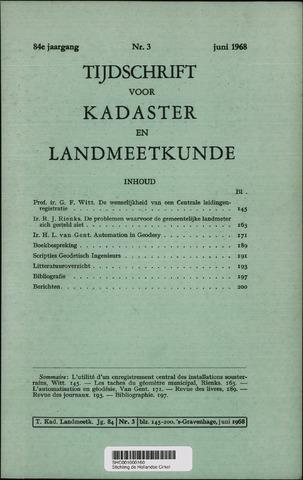 Tijdschrift voor Kadaster en Landmeetkunde (KenL) 1968-06-01
