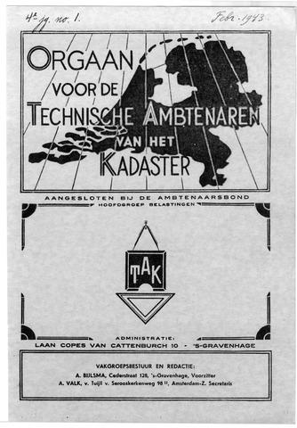 Orgaan der Vereeniging TAK 1943-02-01