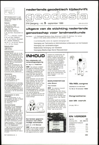 (NGT) Geodesia 1989-09-01