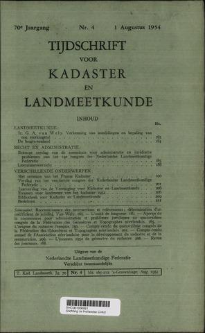 Tijdschrift voor Kadaster en Landmeetkunde (KenL) 1954-08-01