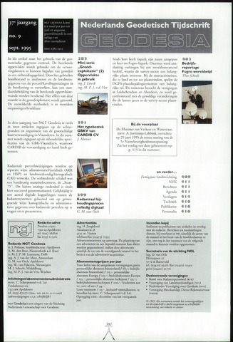 (NGT) Geodesia 1995-09-01