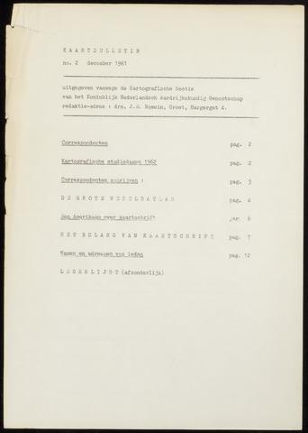 Kaartbulletin 1961-12-01