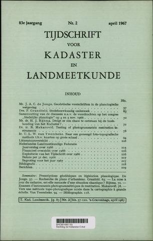 Tijdschrift voor Kadaster en Landmeetkunde (KenL) 1967-04-01