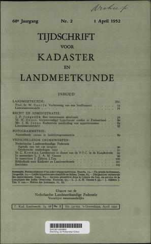 Tijdschrift voor Kadaster en Landmeetkunde (KenL) 1952-04-01