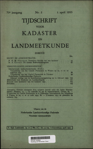 Tijdschrift voor Kadaster en Landmeetkunde (KenL) 1955-04-01