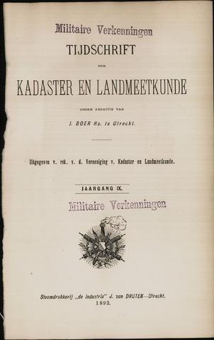 Tijdschrift voor Kadaster en Landmeetkunde (KenL) 1893