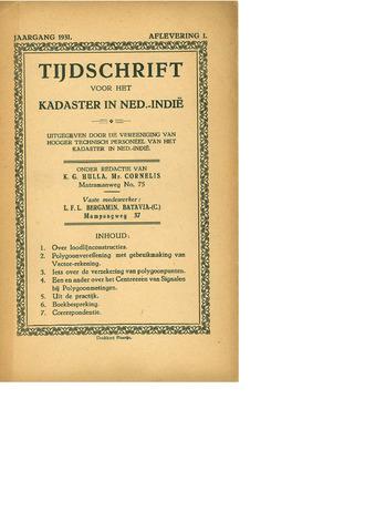 Tijdschrift voor het Kadaster in Ned.-Indië 1931-01-01