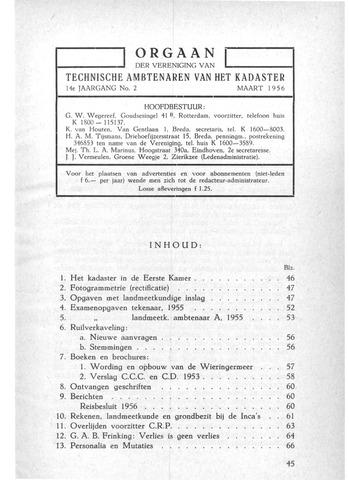 Orgaan der Vereeniging TAK 1956-03-01