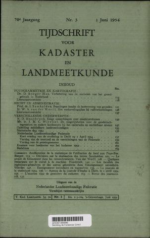 Tijdschrift voor Kadaster en Landmeetkunde (KenL) 1954-06-01