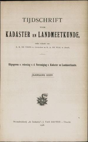 Tijdschrift voor Kadaster en Landmeetkunde (KenL) 1908