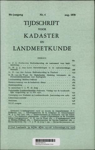 Tijdschrift voor Kadaster en Landmeetkunde (KenL) 1970-08-01