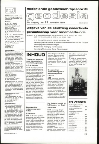 (NGT) Geodesia 1989-11-01