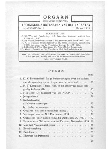 Orgaan der Vereeniging TAK 1954-03-01