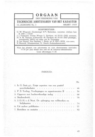 Orgaan der Vereeniging TAK 1959-03-01