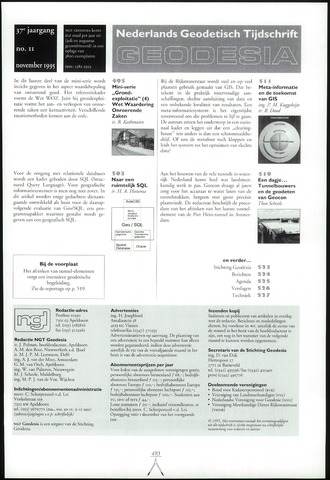 (NGT) Geodesia 1995-11-01