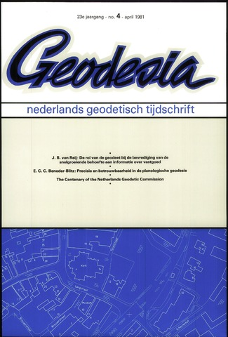 (NGT) Geodesia 1981-04-01