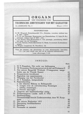 Orgaan der Vereeniging TAK 1953-03-01