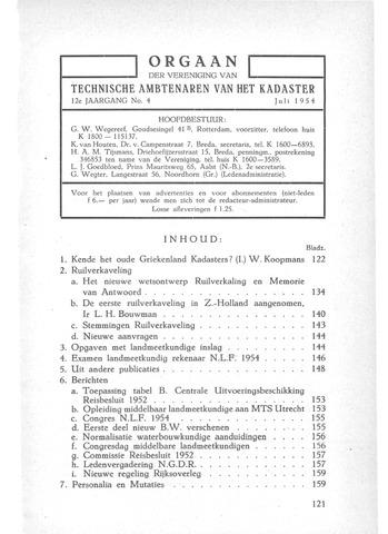 Orgaan der Vereeniging TAK 1954-07-01