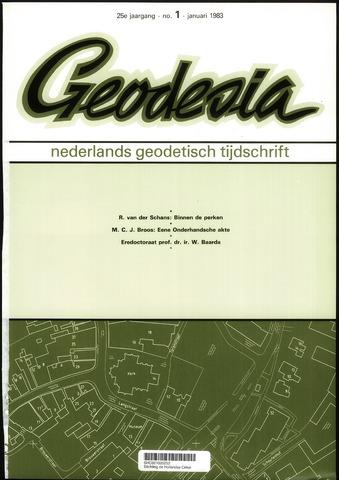 (NGT) Geodesia 1983-01-01