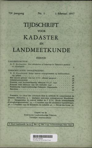 Tijdschrift voor Kadaster en Landmeetkunde (KenL) 1957