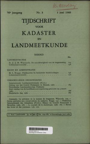 Tijdschrift voor Kadaster en Landmeetkunde (KenL) 1960-06-01