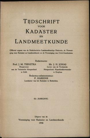 Tijdschrift voor Kadaster en Landmeetkunde (KenL) 1946