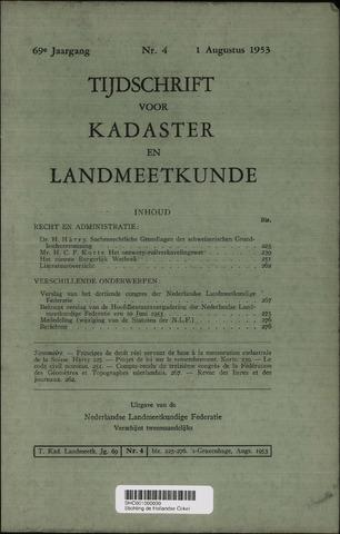 Tijdschrift voor Kadaster en Landmeetkunde (KenL) 1953-08-01