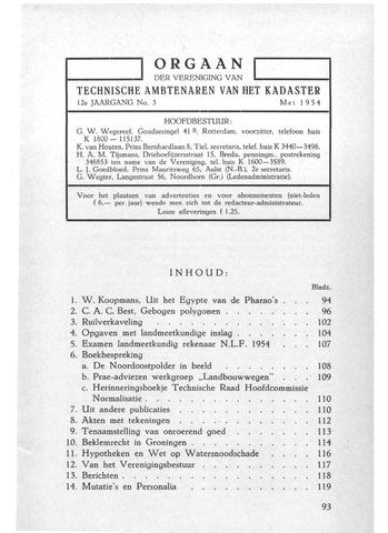 Orgaan der Vereeniging TAK 1954-05-01