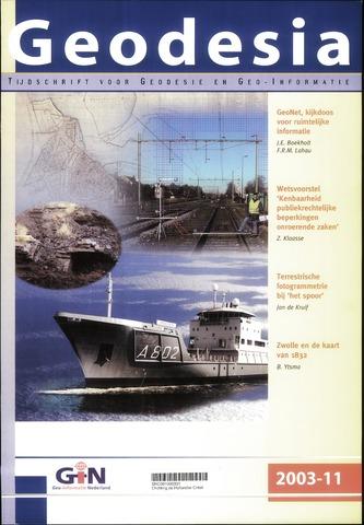 (NGT) Geodesia 2003-11-01