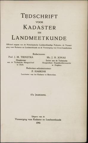 Tijdschrift voor Kadaster en Landmeetkunde (KenL) 1941