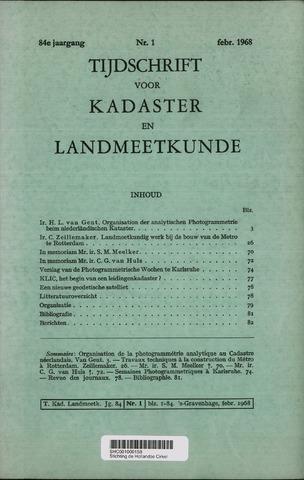 Tijdschrift voor Kadaster en Landmeetkunde (KenL) 1968-02-01